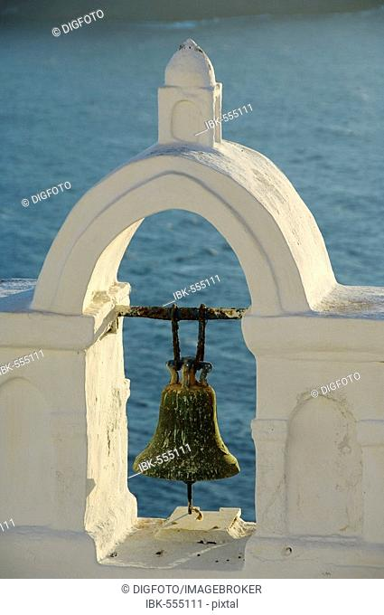 Bell tower, Oia, Santorini, Cyclades, Aegean Sea, Greece