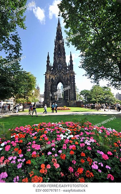 Monument to Sir Walter Scott, Princes Street, Edinburgh, Scotland, United Kingdom, Europe