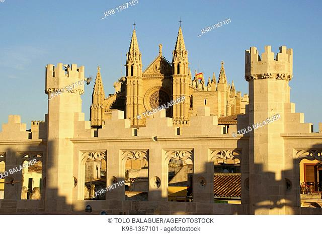 La Seu, Cathedral of Majorca, from the auction, The Llotja, XV Century, Palma Mallorca Balearic Islands Spain