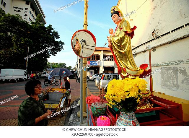 Buddhist temple, Goddess of Mercy Chinese temple Guan Yin Ting, George Town, Penang