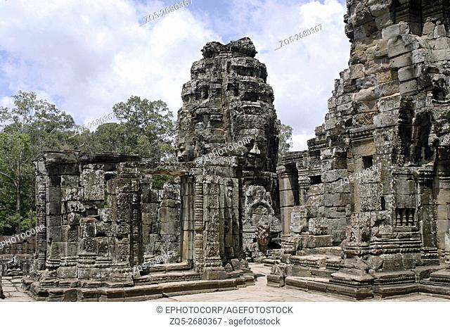 Cambodia, Angkor Wat 12th century A. D. General View of the upper gallery