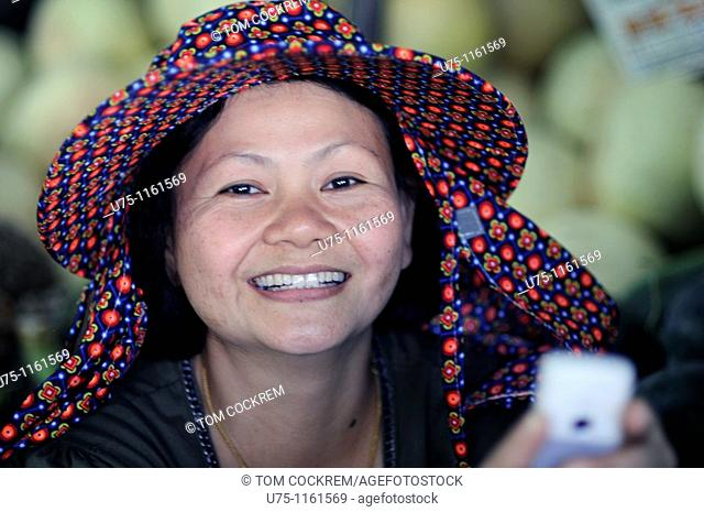 woman in central market, Kota Kinabalu, Sabah, Malaysia