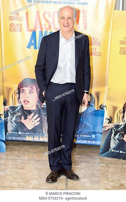 Italian actor Toni Servillo attends Lasciati Andare photocall. Milano, april 10th 2017