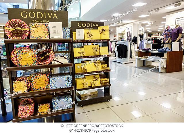 Florida, Miami, Aventura Mall, Macy's, department store, interior, display, sale, Godiva, chocolates
