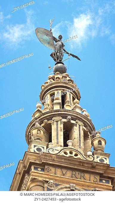 Giraldillo on the Giralda in Seville, Spain