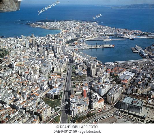 Aerial view of A Coruna - Galicia, Spain