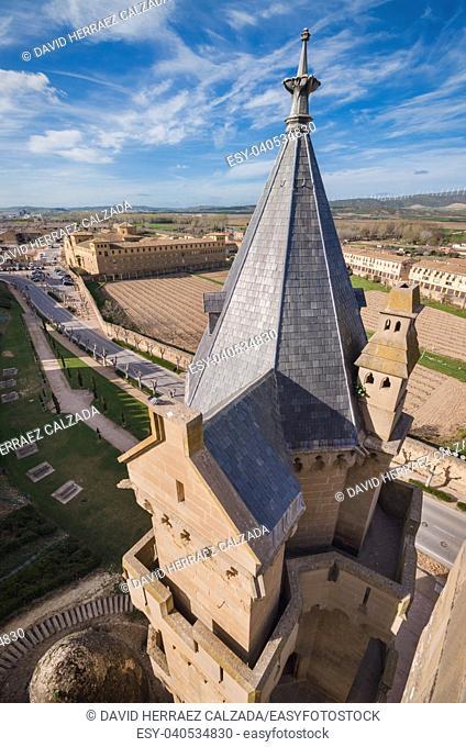 Castle of Olite, medieval village in Navarra, Spain