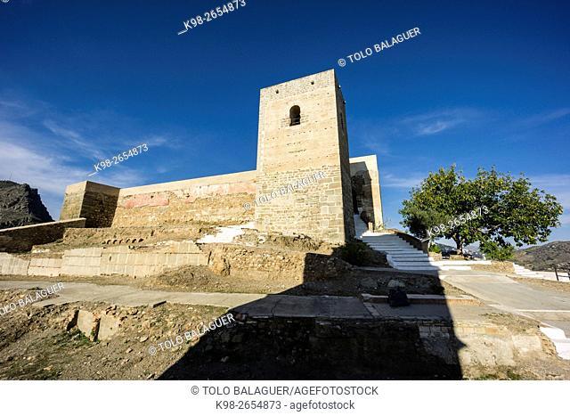 Castillo de Ã. lora, siglo X, Cerro de Las Torres. monumento nacional , Ã. lora, Malaga, Andalucia, Spain