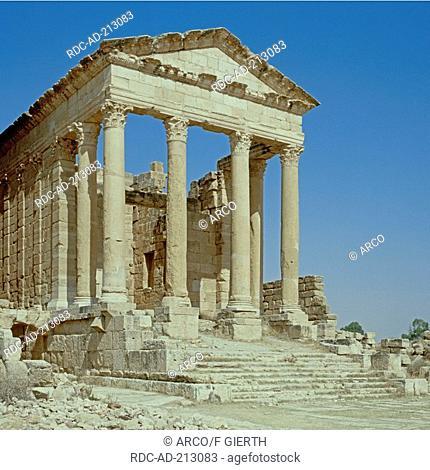 Roman ruins, capitol, Sbeitla, Tunisia