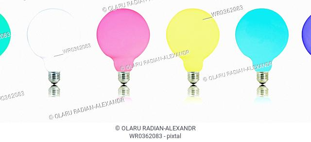 Multicolor bulb isolated on white