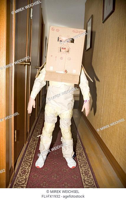 Girl Dressed as Robot