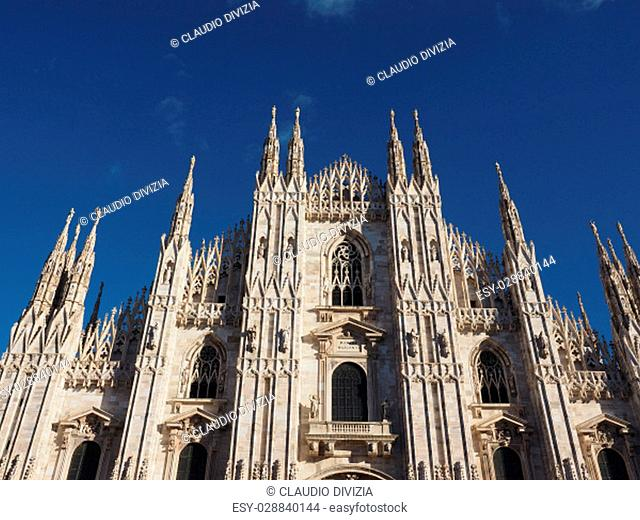 Duomo di Milano (meaning Milan Cathedral) gothicl church in Milan, Italy