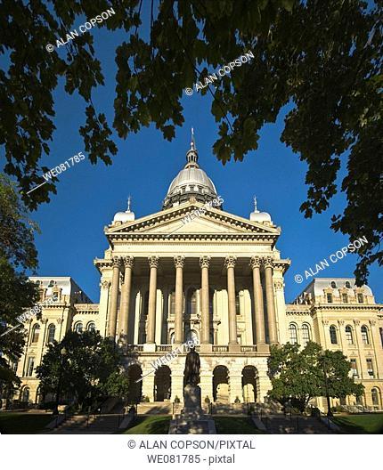 USA Illinois Springfield New Capitol Building