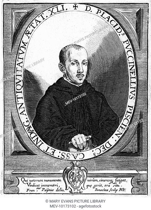 PLACIDO PUCCINELLI Italian Benedictine monk from Pescia, historian, biographer and antiquary