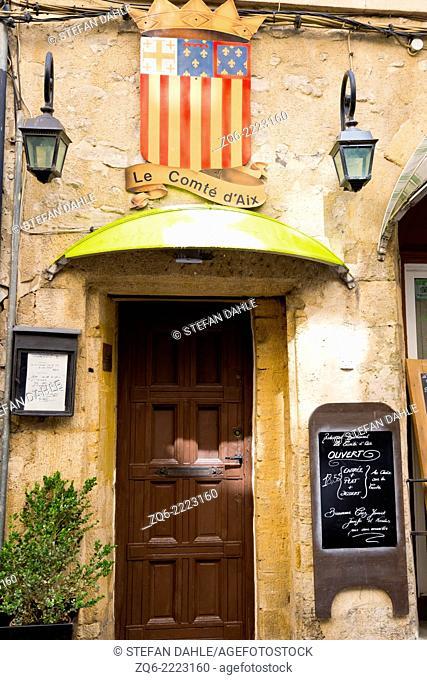Typical House Door in Aix-en-Provence, France