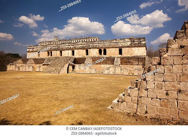 View to the Palace-El Palacio in Maya Archaeological Site Kabah in the Puuc Route, Yucatan State, Mexico , Central America