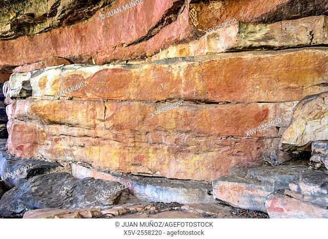 Paintings. Aboriginal art. Ubirr. Kakadu National Park, Northern Territory. Australia