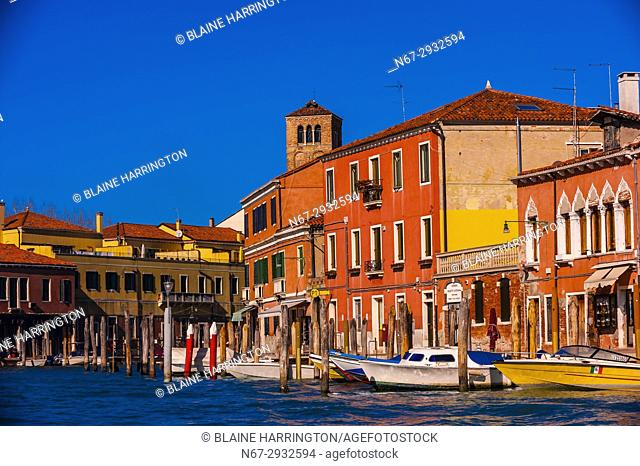 Murano. Murano is a series of islands linked by bridges in the Venetian Lagoon, Venice, Italy