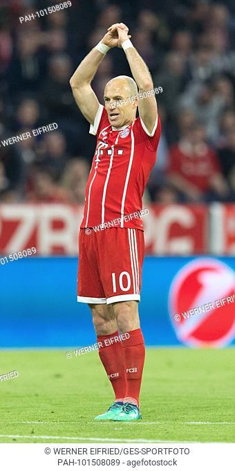 Arjen ROBBEN (FC Bayern)..GES/ Fussball/ Champions League: FC Bayern Munich - FC Sevilla, 11.04.2018..Football / Soccer: Champions League: Bayern vs Sevilla
