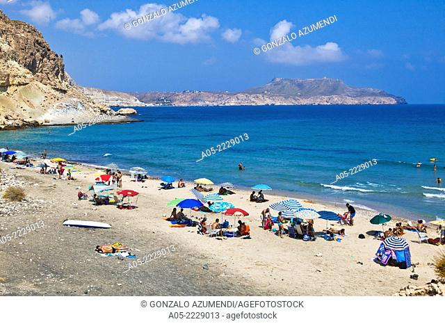 Cala del Plomo beach, Cabo de Gata - Nijar Natural Park, Almeria province, Andalucia, Spain