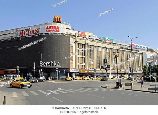 Shopping centre, billboards, Piata Unirii square, Bucharest, Romania, Eastern Europe, Europe, PublicGround