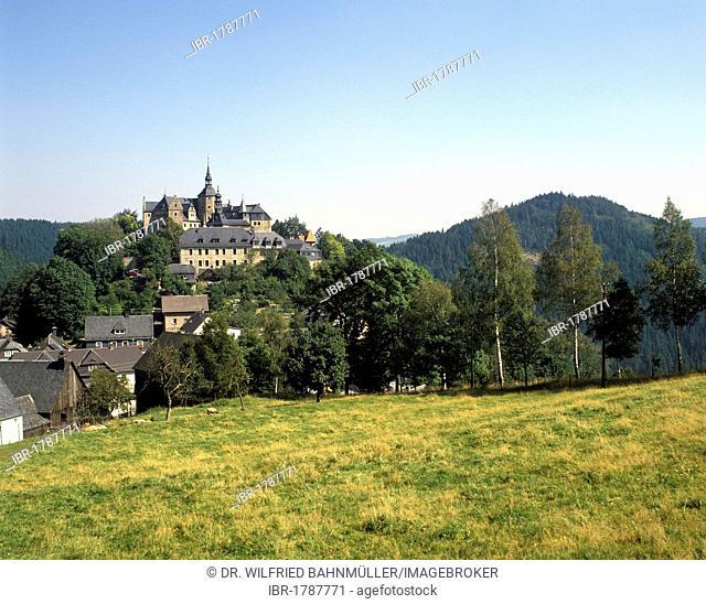 Burg Lauenstein castle, Ludwigstadt, Upper Franconia, Bavaria, Germany, Europe