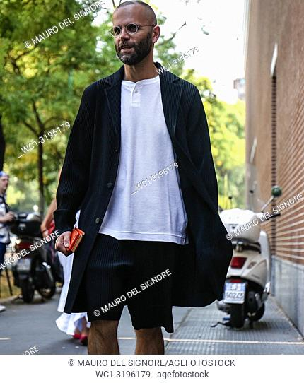 MILAN, Italy- September 20 2018: Angelo Flaccavento on the street during the Milan Fashion Week