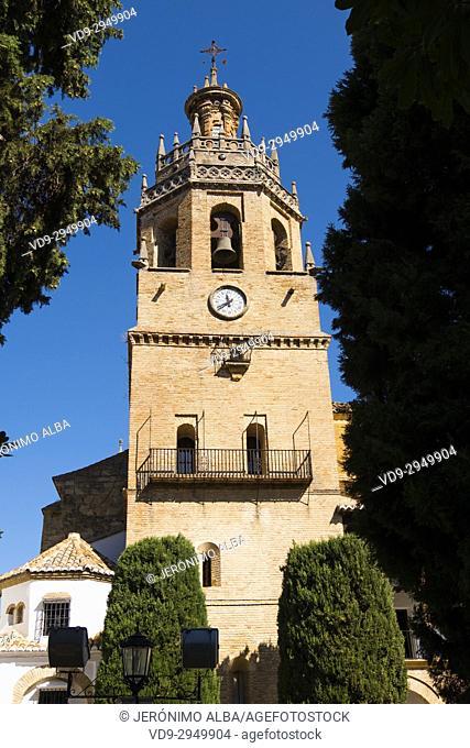 Santa Maria la Mayor church, Ronda. Málaga province Costa del Sol, Andalusia. Southern Spain Europe