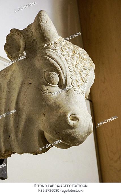 Serapis head. Egyptian Ptolemaic collection. Louvre Museum. Paris. France