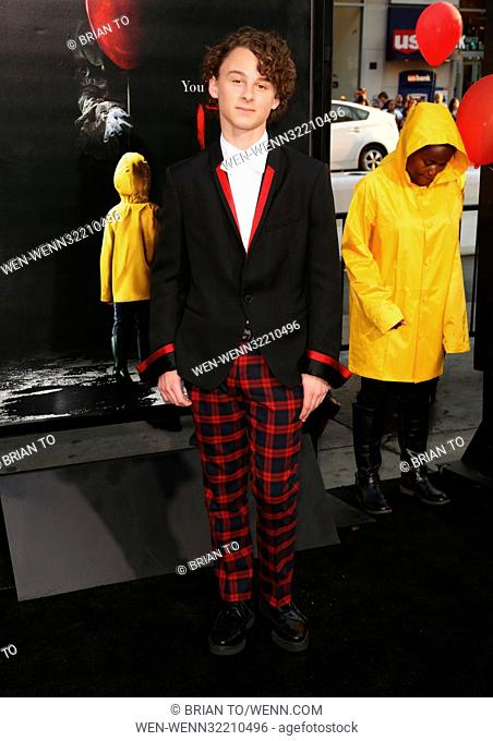 """Celebrities attend World Premiere of """"""""IT"""""""" at TCL Chinese Theater. Featuring: Wyatt Oleff Where: Los Angeles, California"""
