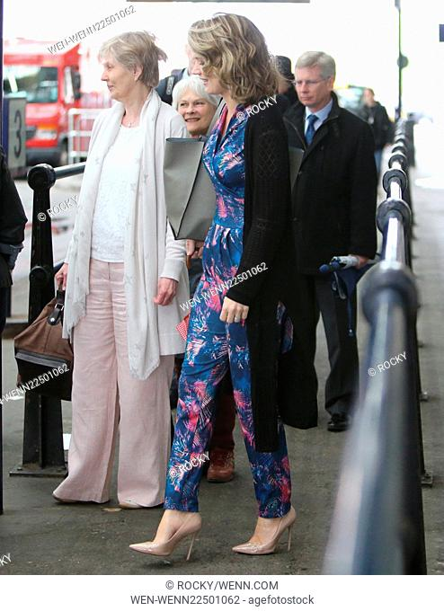 Charlotte Hawkins outside Waterloo Station with two friends Featuring: Charlotte Hawkins Where: London, United Kingdom When: 18 May 2015 Credit: Rocky/WENN