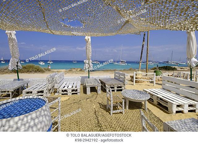 chiringuito Sa Sequi , Parque natural de ses Salines de Ibiza y Formentera, Formentera, Balearic Islands, Spain