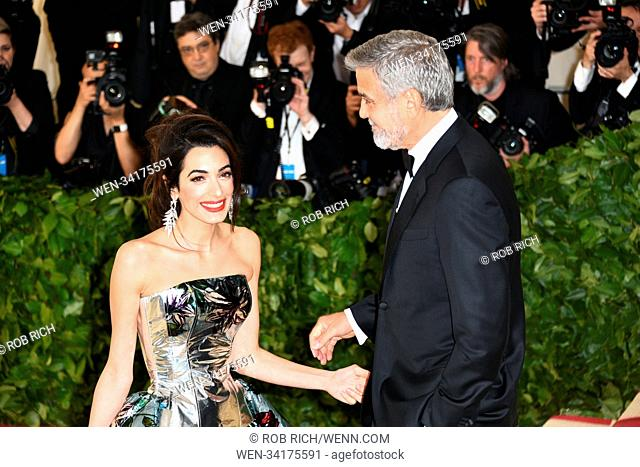 Celebs flock to the Costume Institute Gala at the Metropolitan Museum in NYC Featuring: Amal Clooney, George Clooney Where: Manhattan, New York