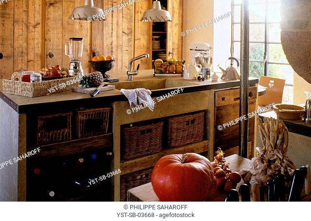 Kitchen, house, Vaucluse, Provence-Alps-Côte d'Azur, France