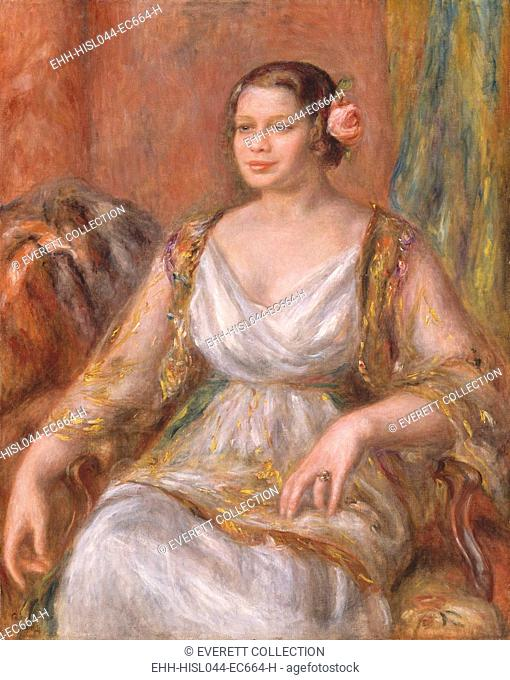 Tilla Durieux, by Auguste Renoir, 1914, French impressionist painting, oil on canvas. Tilla Durieux, a famous German actress traveled to Paris have her portrait...