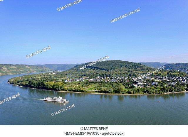 Germany, Rhineland Palatinate, Boppard, the romantic Rhine listed as World Heritage by UNESCO