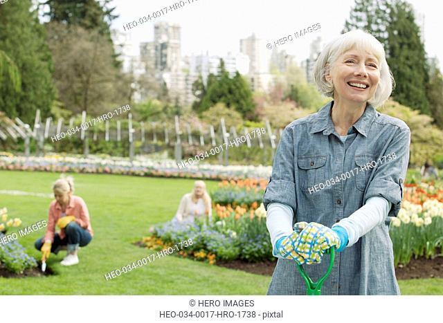 portrait of mature female gardener