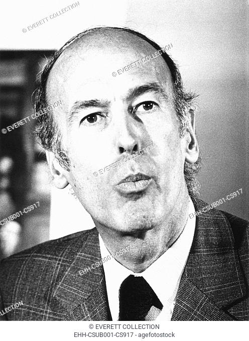 French Presidential candidate Valerie Giscard d'Estaing speaking at a press conference. April 11, 1974. Giscard was defeated Socialist candidate François...