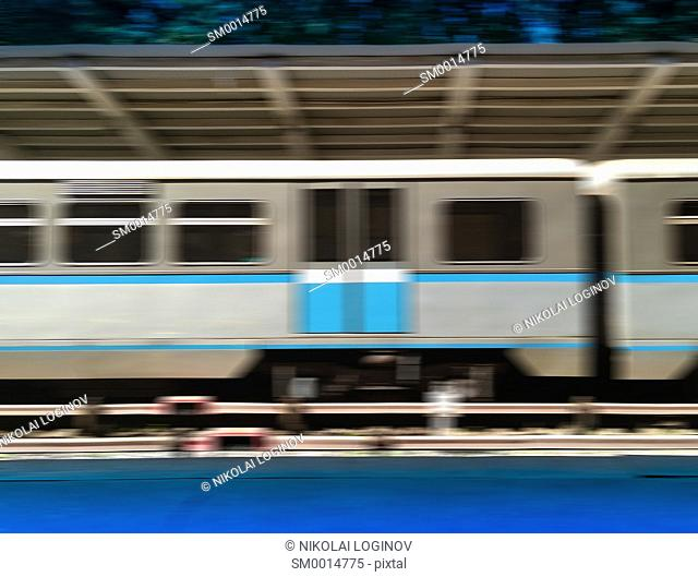 Moscow train abstraction bokeh background hd