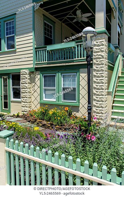 Ocean City, NJ, USA, Private Garden at Resort City House near Beach