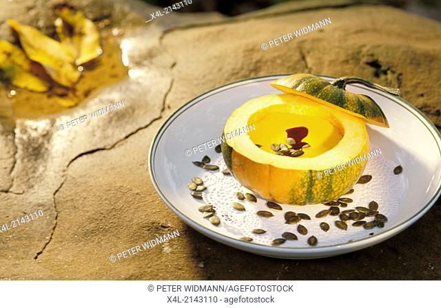 pumpkin with pumpkin seeds