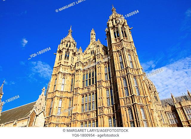 The Houses of Parliament Palace of Westminster London, England