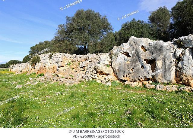 Son Catlar, talaiotic site of Iron age. Ciudadela, Minorca Biosphere Reserve, Balearic Islands, Spain