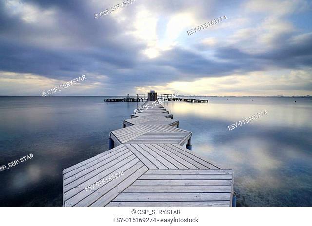 zig zag dock in Mar Menor