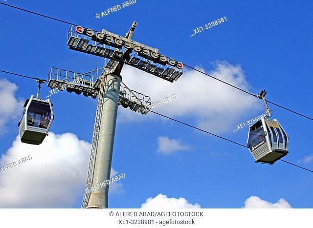 Montjuïc cable car cabin, Barcelona, Catalonia, Spain