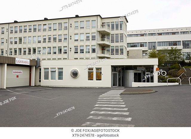 ambulance access at landspitali university hospital reykjavik iceland