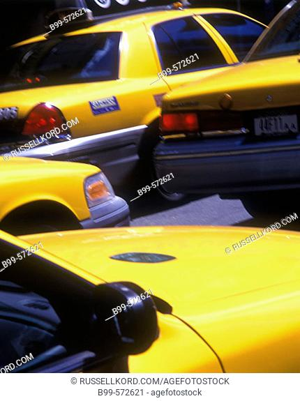 Taxi Cabs, Times Square, Manhattan, New York, USA