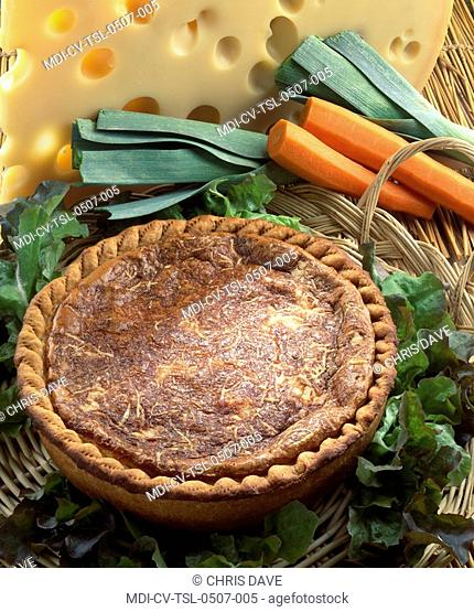 Tart with carrots and leeks