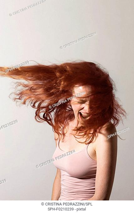 Angry woman screaming with rage