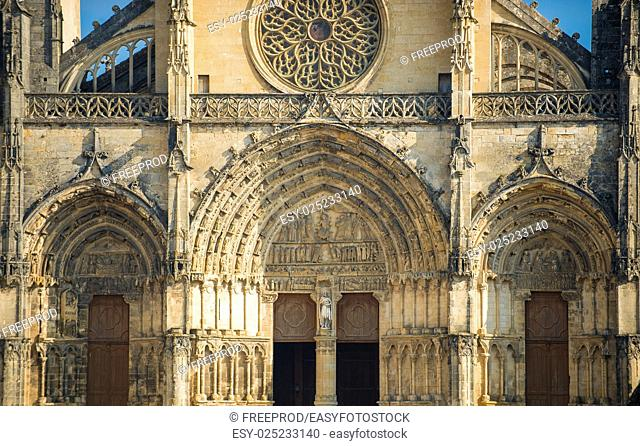 France, the cathedral of Bazas in Gironde, Aquitaine